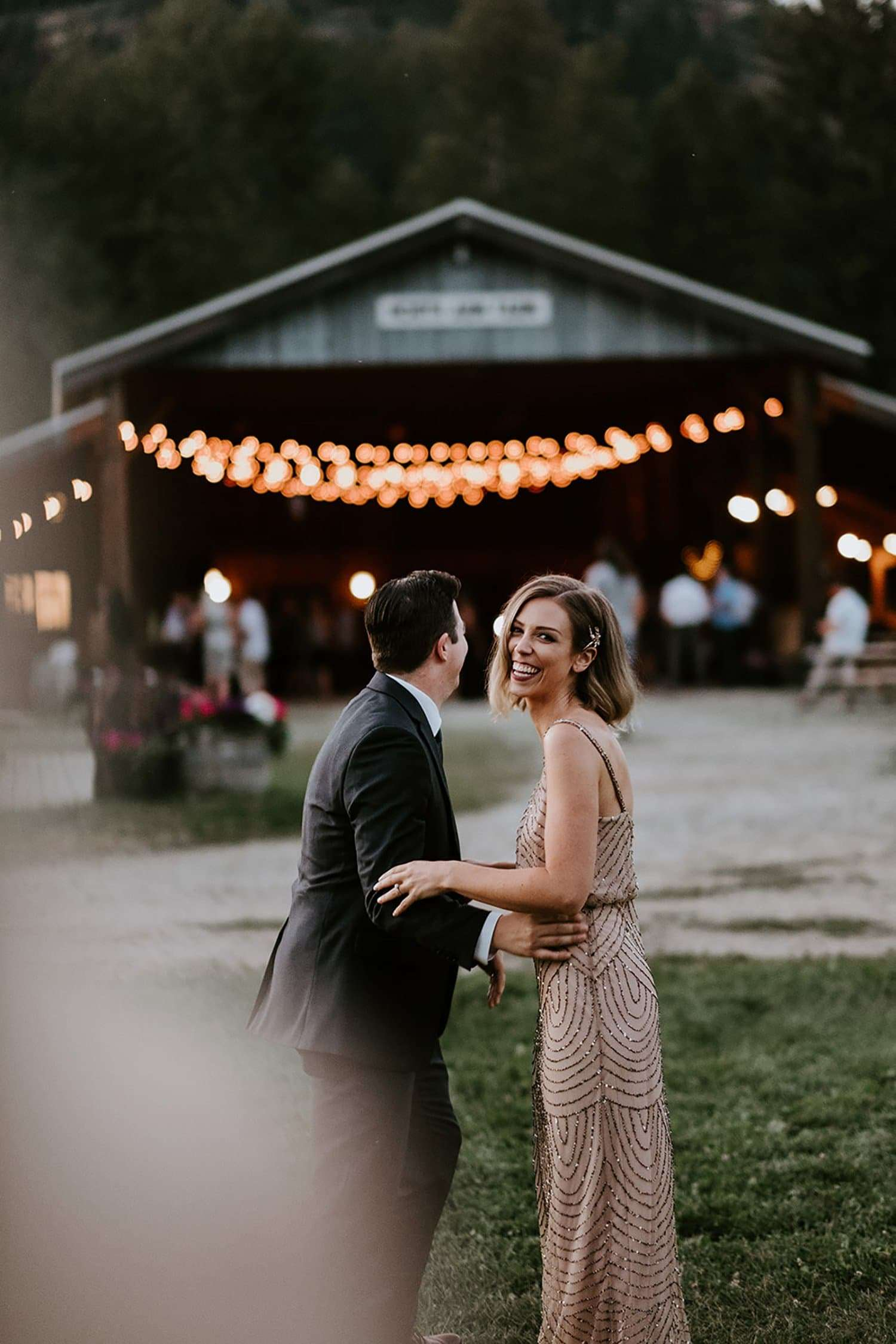 Bride and Groom at North Arm Farms wedding.