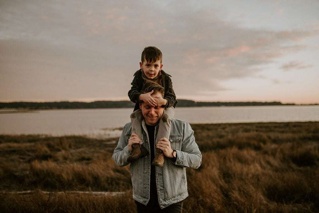 A family photography sessions at Mud Bay Park in Surrey.