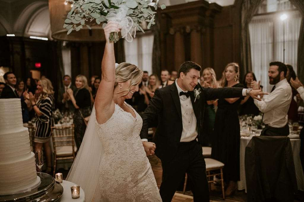 Bride and groom at Vancouver club wedding.
