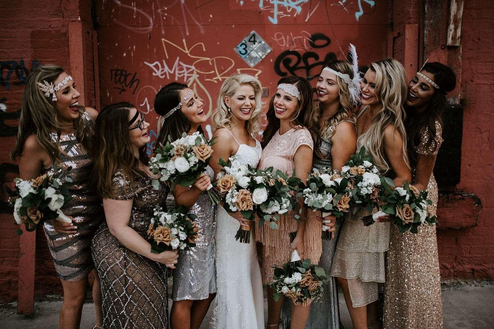 wedding party in Kansas City Missouri