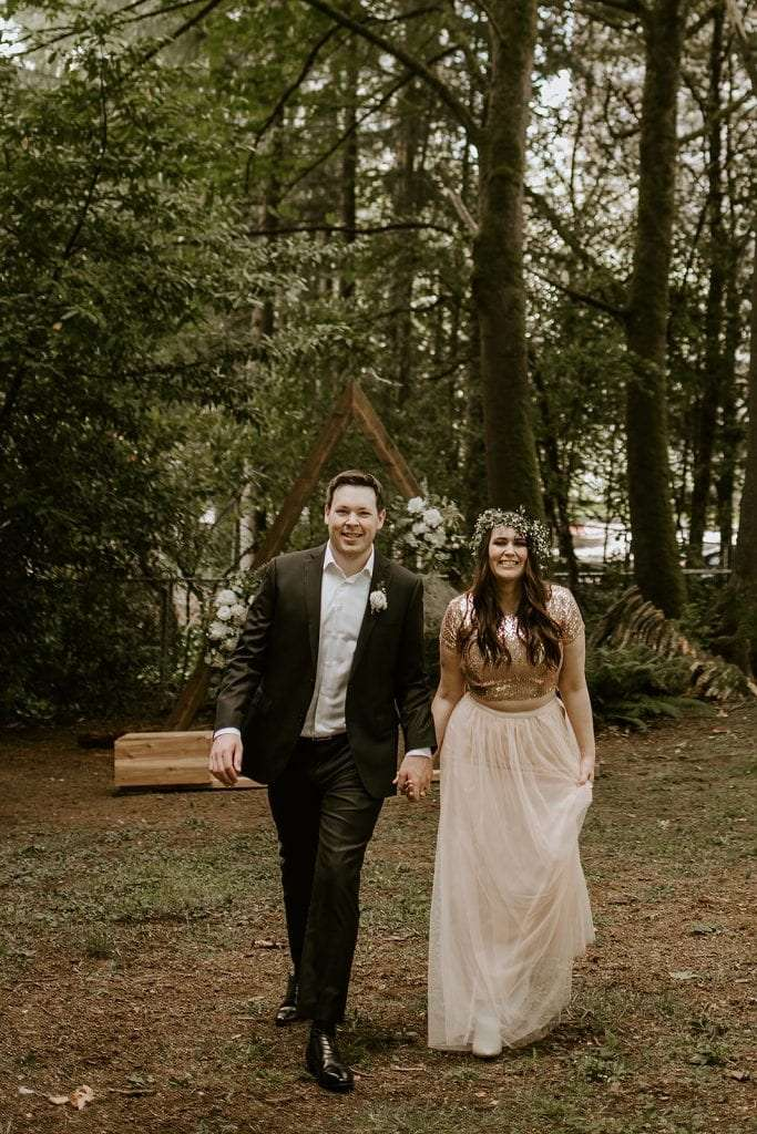 Forest Wedding Ceremony in Vancouver