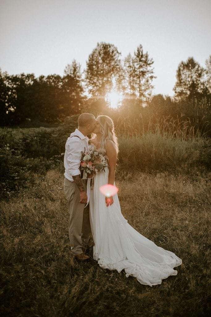 Pitt meadows backyard farm wedding